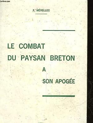LE COMBAT DU PAYSAN BRETON A SON: MEVELLEC F.