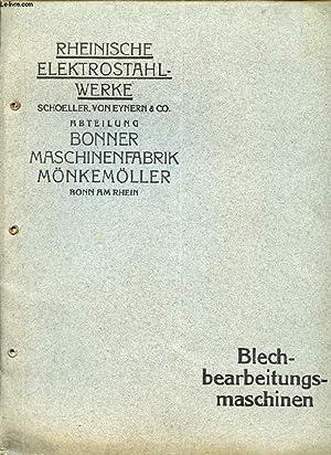 RHEINISCHE ELEKTROSTAHLWERKE, BLECHBEARBEITUNGSMASCHINEN: COLLECTIF