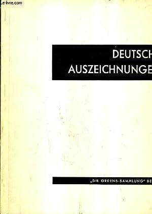 DEUTSCHE AUSZEICHNUNGEN.: DR KURT GERHARD