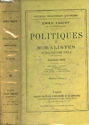POLITIQUES ET MORALISTES DU DIX NEUVIEME SIECLE / 2e serie : Saint-Simon, Fourier, Lamennais, ...