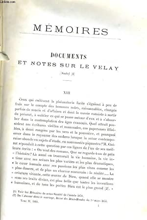 MEMOIRES - DOCUMENTS ET NOTES SUR LE VELAY (SUITE) (A SUIVRE) / L'ENSEIGNEMENT SECONDAIRE...