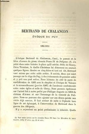 BERTRAND DE CHALANCON EVEQUE DU PUY 1202-1213: JACOTIN