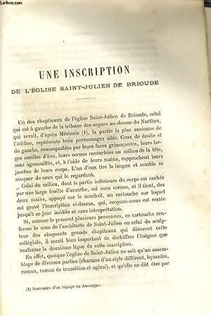 UNE INSCRIPTION DE L'EGLISE SAINT-JULIEN DE BRIOUDE / PRIX-FAIT D'UN TABLEAU, ...