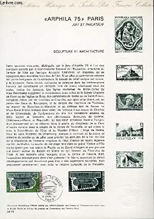 DOCUMENT PHILATELIQUE OFFICIEL N°09-75 - ARPHILA 75 LE CHAPITEAU - PARIS ART ET PHILATELIE - SCUL...