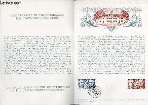 DOCUMENT PHILATELIQUE OFFICIEL N°12-76 - BICENTENAIRE DE L'INDEPENDANCE DES ETATS-UNIS D&#...