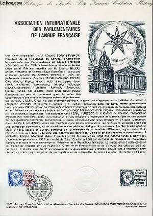 DOCUMENT PHILATELIQUE OFFICIEL N°30-77 - ASSOCIATION INTERNATIONALE DES PARLEMENTAIRES DE ...