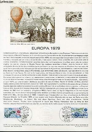 DOCUMENT PHILATELIQUE OFFICIEL N°12-79 - EUROPA 1979: BEQUET PIERRE
