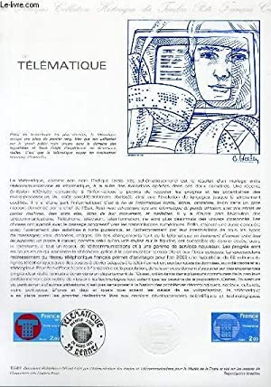 DOCUMENT PHILATELIQUE OFFICIEL N°12-81 - TELEMATIQUE (N°2130 YVERT ET TELLIER)