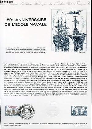 DOCUMENT PHILATELIQUE OFFICIEL N°40-81 - 150° ANNIVERSAIRE DE L'ECOLE NAVALE (N°...