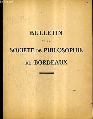 BULLETIN DE LA SOCIETE PHILOSOPHIQUE DE BORDEAUX: COLLECTIF