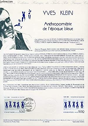 DOCUMENT PHILATELIQUE OFFICIEL N°02-89 - YVES KLEIN - ANTHROPOMETRIE DE L'EPOQUE BLEUE (N°2561 YV...