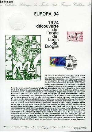 DOCUMENT PHILATELIQUE OFFICIEL - EUROPA 94 - 1924 DECOUVERTE DE L'ONDE DE LOUIS DE BROGLIE (N&...