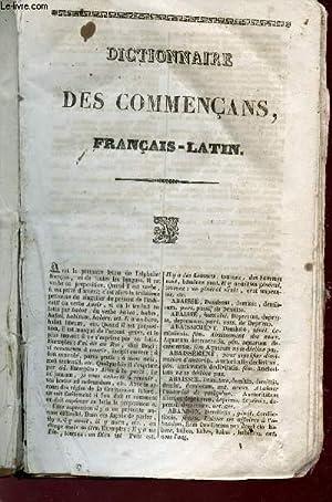 DICTIONNAIRE DES COMMERCANS FRANCAIS-LATIN: INCONNU