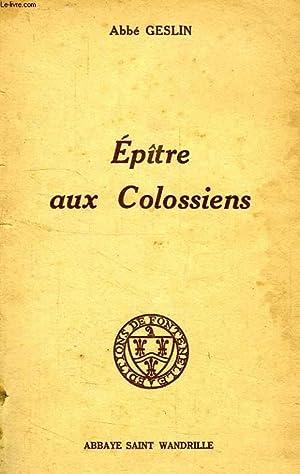 EPITRE AUX COLOSSIENS: GESLIN ABBE