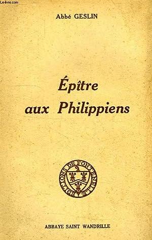 EPITRE AUX PHILIPPIENS: GESLIN ABBE