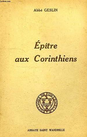 EPITRE AUX CORINTHIENS: GESLIN ABBE