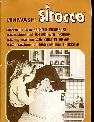 MINIWASH SIROCCO - LESSIVEUSE AEC SECHOIR INCORPORE - WASMACHINE MET INGEBROUWDE DROGER - WASHING ...
