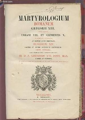 MARTYROLOGIUM - ROMANUM GREGORII XIII - JUSSU: COLLECTIF