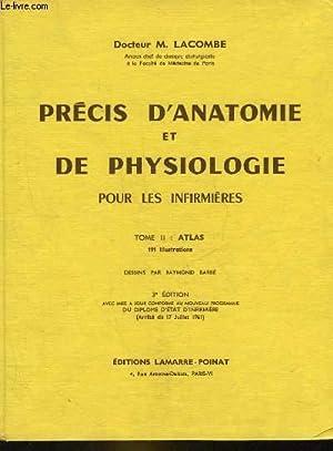 PRECIS D'ANATOMIE ET DE PHYSIOLOGIE POUR LES INFIRMIERES - TOME 2 : ATLAS: LACOMBE M.