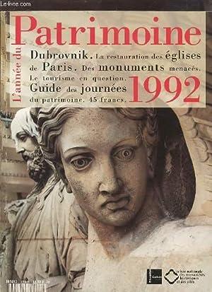 L'ANNEE DU PATRIMOINE - 1992 : DUBROVNIK / LA RESTAURATION DES EGLISES DE PARIS / DES MONUMENTS...