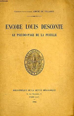 ENCORE LOUIS DESCONTE, LE PSEUDO-PAGE DE LA PUCELLE: AMICIE DE VILLARET COMTESSE-CHANOINESSE
