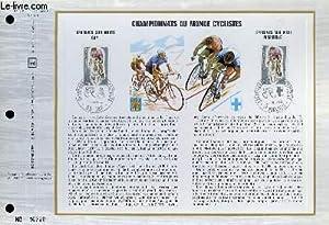 FEUILLET ARTISTIQUE PHILATELIQUE - CEF - N° 210 (Série B) - CHAMPIONNATS DU MONDE ...