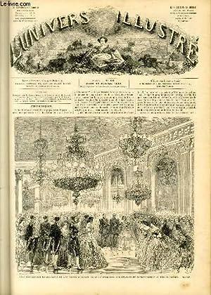 L'UNIVERS ILLUSTRE - QUATRIEME ANNEE N° 181 Fête donnée par le Maréchal de Mac-Mahon à Berlin, ...