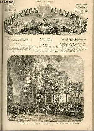 L'UNIVERS ILLUSTRE- NEUVIEME ANNEE N° 522 Incendie du théâtre de Brest: COLLECTIF
