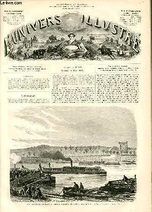 L'UNIVERS ILLUSTRE - DIXIEME ANNEE N° 638 Les nouveaux bateaux à vapeur omnibus de Paris: ...