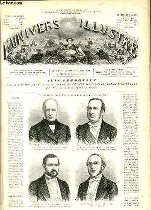 L'UNIVERS ILLUSTRE - DOUXIEME ANNEE N° 760 Les nouveaux ministres, dessins de M. H. Rousseau: ...