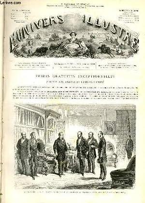 L'UNIVERS ILLUSTRE - DOUXIEME ANNEE N° 767 Saint-Cloud - S. M. L'empereur recevant en ...