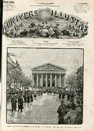 L'UNIVERS ILLUSTRE - VINGT-NEUVIEME ANNEE N° 1656 Paris: COLLECTIF