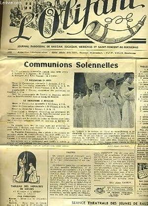 L'OLIFANT 11e ANNEE N°80 - COMMUNIONS COLENNELLES - SEANCE THEATRALE DES JEUNES DE RAUZAN ...