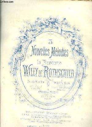 3 NOUVELLES MELODIES BLUETTE poésie de PAUL COLLIN: WILLY DE ROTHSCHILD, Baronne