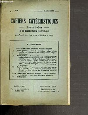 CAHIERS CATECHISTIQUES - N°1 - OCTOBRE 1932: COLLECTIF