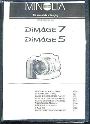 NOTICE UTILISATION : MINOLTA DIAMGE 7 DIMAGE 5.: COLLECTIF