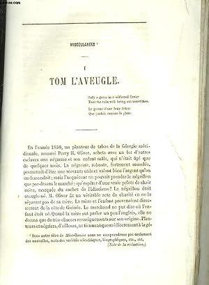EXTRAIT DE LA REVUE BRITANNIQUE - MISCELLANEES - 1 - TOM L'AVEUGLE: COLLECTIF