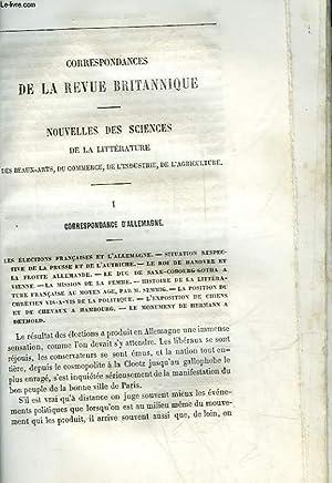 EXTRAIT DE LA REVUE BRITANNIQUE - CORRESPONDANCES: COLLECTIF