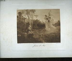 1 GRAVURE EAU FORTE JEANNE D'ARC: LAFON PINX F. - BRAUN & CIE HEL.