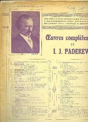 MENUET pour piano: PADEREWSKI I.J.
