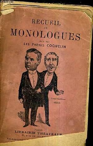 RECUEIL DE MONOLOGUES - E.BANEUX G.BRIET P.CLOQUEMON A.DELILIA E.DEPRE E.DEUTSCH J.GASCOGNE ...