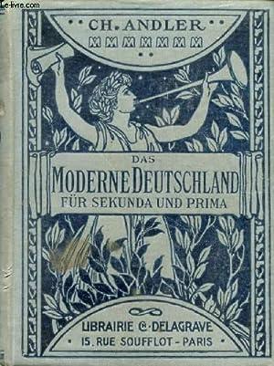 DAS MODERNE DEUTSCHLAND IN KULTURHISTORISCHEN DARSTELLUNGEN: ANDLER CHARLES