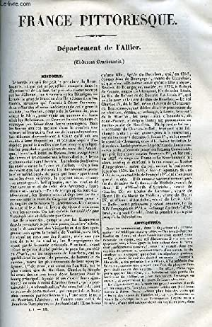 FRANCE PITTORESQUE TOME 1 - LIVRAISON N°18 - DEPARTEMENT DE L'ALLIER: HUGO A.