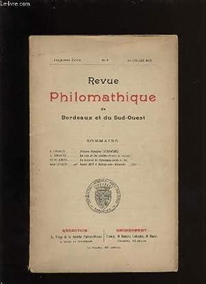 Revue philomathique de Bordeaux et du Sud-Ouest n° 7: COLLECTIF