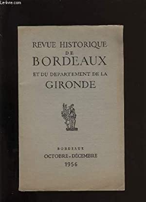 Revue historique de Bordeaux et du département de la Gironde n° 4: COLLECTIF