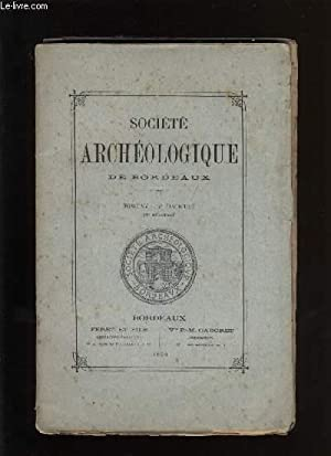 Société archéologique de Bordeaux - Tome XV - Fascicule n° 4: COLLECTIF