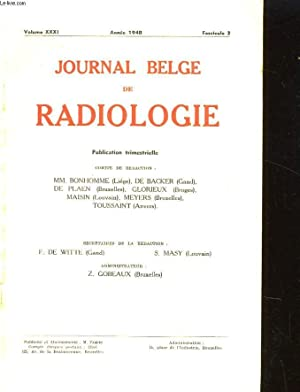 JOURNAL BELGE DE RADIOLOGIE VOLUME XXXI N°2: COLLECTIF