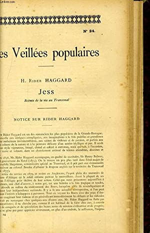 LES VEILLEEES POPULAIRES N°24 - H. RIDER HAGGARD, JESS: COLLECTIF