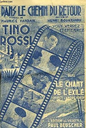 """DANS LE CHEMIN DU RETOUR marche chantée dans le film """"le chant de l'exilé&..."""