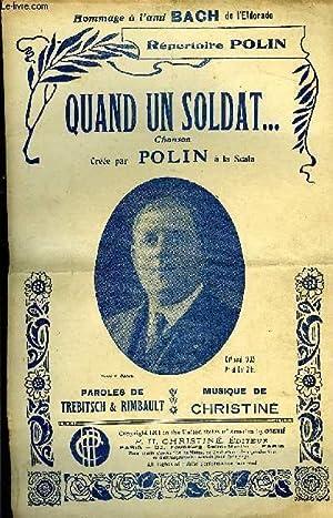 QUAND UNE SOLDAT. chanso marche créée par Polin. / CHANT ET MELODIE: CHRISTINE